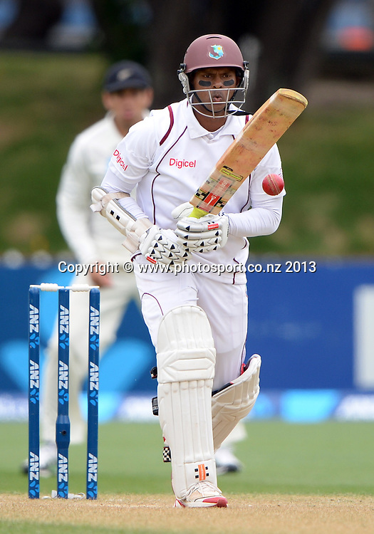 Shivnarine Chanderpaul batting on Day 3 of the 2nd cricket test match of the ANZ Test Series. New Zealand Black Caps v West Indies at The Basin Reserve in Wellington. Friday 13 December 2013. Mandatory Photo Credit: Andrew Cornaga www.Photosport.co.nz