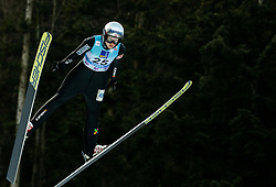 Silje Opseth of Norway soaring through the air during 1st Round at Day 1 of World Cup Ski Jumping Ladies Ljubno 2019, on February 8, 2019 in Ljubno ob Savinji, Slovenia. Photo by Matic Ritonja / Sportida