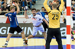 02.11.2016, Arena Nova, Wiener Neustadt, AUT, EHF, Handball EM Qualifikation, Österreich vs Finnland, Gruppe 3, im Bild Dominik Pammer (AUT)// during the EHF Handball European Championship 2018, Group 3, Qualifier Match between Austria and Finland at the Arena Nova, Wiener Neustadt, Austria on 2016/11/02. EXPA Pictures © 2016, PhotoCredit: EXPA/ Sebastian Pucher