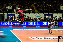 January 13, 2018 - Monza, Italy, Italy - Ivan Zaytsev #9 competes during A1 match between Gi Group Monza v Sir Safety Conad Perugia (Credit Image: © Mairo Cinquetti/Pacific Press via ZUMA Wire)
