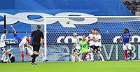 Fotball Menn Eliteserien Rosenborg-Vålerenga<br /> Lerkendal Stadion,Trondheim<br /> 1 juli 2020<br /> <br /> Ivan Näsberg (22) scorer og utligner til 1-1 for Vålerenga<br /> <br /> <br /> Foto : Arve Johnsen, Digitalsport