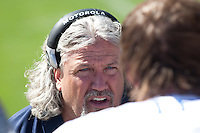 18 September 2011: Defensive coordinator Rob Ryan of the Dallas Cowboys speaks to one of his players while coaching against the San Francisco 49ers during the first half of the Cowboys 27-24 overtime victory against the 49ers in an NFL football game at Candlestick Park in San Francisco, CA