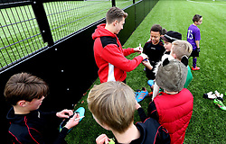 Luke Freeman of Bristol City signs autographs for children at The BCCT EFL Kids Cup - Mandatory by-line: Robbie Stephenson/JMP - 23/11/2016 - FOOTBALL - South Bristol Sports Centre - Bristol, England - BCCT EFL Kids Cup