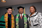 18274Graduate Commencement 2007...Dr. Joe Rota with...Honorary Degree:..Nnamani, a senator of the Federal Republic of Nigeria since 1998 and a two-time graduate of Ohio University, is a longtime promoter of self-help programs that augment scarce governmental resources. His civic leadership and effectiveness as a business consultant have led to significant growth in human and social capital through scholarships, building education facilities, rural electrification, road construction and digital telecommunications...He earned a bachelor's degree in business administration (1977) and an MBA (1978) from Ohio University and will receive his honorary degree at the graduate ceremony on June 8.