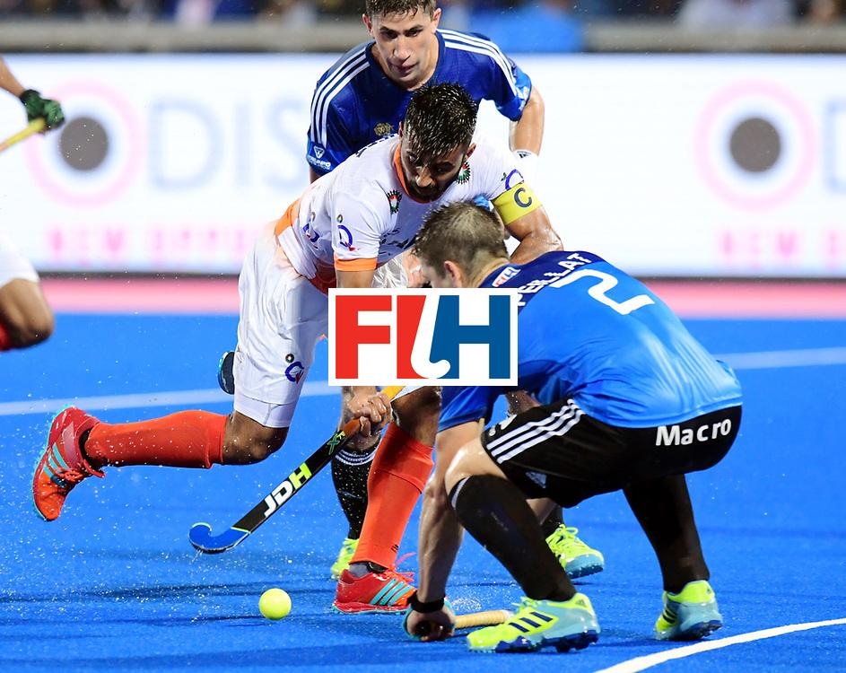 Odisha Men's Hockey World League Final Bhubaneswar 2017<br /> Match id:19<br /> India v Argentina<br /> Foto: Manpreet Singh (Ind) and Gonzalo Peillat (Arg) <br /> COPYRIGHT WORLDSPORTPICS FRANK UIJLENBROEK
