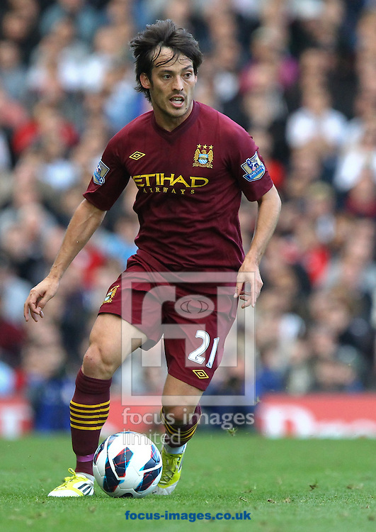 Picture by John  Rainford/Focus Images Ltd +44 7506 538356.29/09/2012.David Silva of Manchester City during the Barclays Premier League match at Craven Cottage, London.