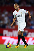 SEVILLE, SPAIN - OCTOBER 28:  Guido Pizarro of Sevilla FC in action during the La Liga match between Sevilla and Leganes at  Estadio Sanchez Pizjuan on October 28, 2017 in Seville, .  (Photo by Aitor Alcalde Colomer/Getty Images)