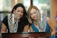Caroline Loughnane Director of Marketing and Communications ( NUIG)  and Michelle Ní Chróinín Press & Information Officer, from The National University of Ireland, Galway which has been named the Overall Winner in the Marketing Institute of Ireland West Region's Annual Awards at a gala awards  attended by over 160 people in the Radisson Blu Hotel, Galway . They receive win a bumper EUR30,000 prize package of marketing and business supports from leading business supports from leading west of Ireland companies.  Photo:Andrew Downes.