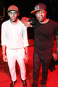 October 27, 2012-New York, NY: Recording Artists BlackStar- (L-R) Mos Def aka Yasiin Bey and Talib Kweli perform at House of Blues on October 27, 2012 in Atlantic City, New Jersey. Black Star arose from the underground movement of the late 1990s, which was in large part due to Rawkus Records, an independent record label stationed in New York City. They released one album, Mos Def & Talib Kweli Are Black Star on August 26, 1998. (Terrence Jennings)