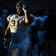 Defense Lineman, Christopher Erby (91) of Grossmont College post game after a win against Santa Ana College in Santa Ana, November 9. Photo: Brandon Means