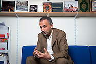 Tariq Ramadan, a Swiss citizen, academic and Professor of Contemporary Islamic Studies in the Faculty of Oriental Studies at Oxford University. Photos of Tariq in his office in Oxford.