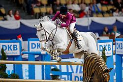 DINIZ Luciana (POR), Vertigo du Desert<br /> München - Munich Indoors 2019<br /> CSI4* - Championat der Deutsche Vermögensberatung AG -DVAG (Große Tour)<br /> Springprüfung mit Stechen, international<br /> Höhe: 1.50m<br /> 23. November 2019<br /> © www.sportfotos-lafrentz.de/Stefan Lafrentz