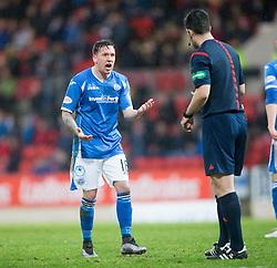 St Johnstone&rsquo;s Danny Swanson. <br /> St Johnstone 3 v 4Aberdeen, SPFL Ladbrokes Premiership played 6/2/2016 at McDiarmid Park, Perth.