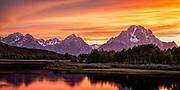 Grand Teton Mountain Range from Oxbow Bend in Grand Teton National Park