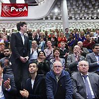 Nederland, Amsterdam , 29 november 2013.<br /> ALV PvdA Amsterdam in Sint Nicolaaslyceum aan de Beethovenstraat in Amsterdam.<br /> Op de foto: De gedoodverfde nummer 1 op de kandidatenlijst Pieter Hilhorst.<br /> Foto:Jean-Pierre Jans