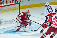 REGINA, SK - MAY 20: Evan Fitzpatrick #31 of Acadie-Bathurst Titan makes a second period save against the Regina Pats at the Brandt Centre on May 20, 2018 in Regina, Canada. (Photo by Marissa Baecker/CHL Images)
