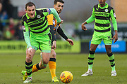 Forest Green Rovers Lee Collins(5) on the ball during the EFL Sky Bet League 2 match between Forest Green Rovers and Cambridge United at the New Lawn, Forest Green, United Kingdom on 20 January 2018. Photo by Shane Healey.