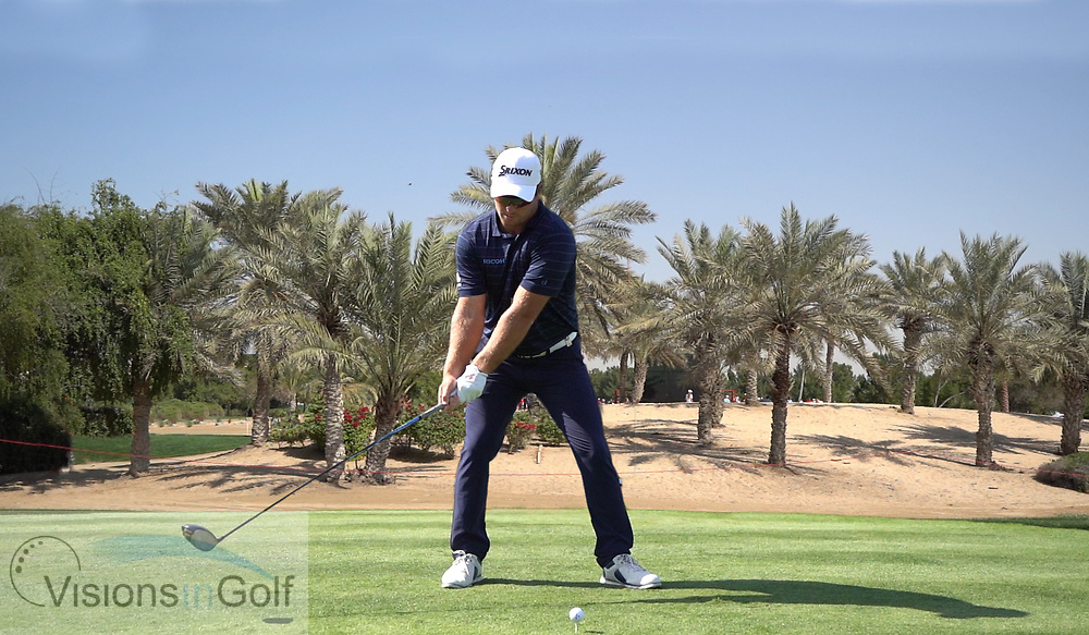 Ryan Fox<br /> High speed swing sequence with driver face on<br /> May 2018<br /> <br /> Picture by Mark Newcombe/visionsingolf.com