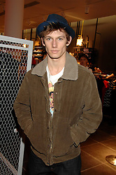 Actor ALEX PETTYFER at a party to celebrate the opening of the new H&M store at 234 Regent Street, London on 13th February 2008.<br />