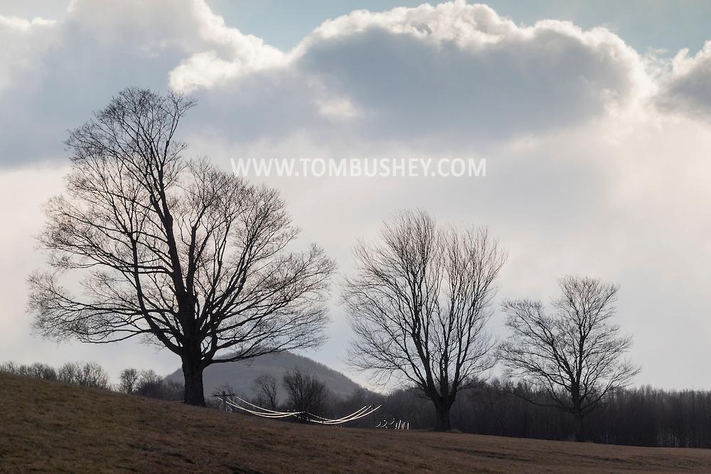 Goshen, New York - Dramatic skies over Black Dirt farm fields on Jan. 8, 2017.