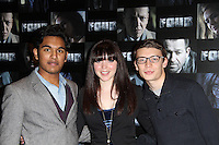 Himesh Patel; Rachel Bright; Charlie G Hawkins Four UK Premiere, Empire Cinema, Leicester Square, London, UK. 10 October 2011. Contact: Rich@Piqtured.com +44(0)7941 079620 (Picture by Richard Goldschmidt)