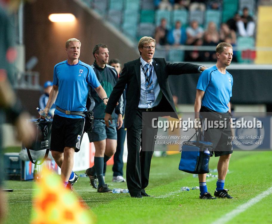 Markku Kanerva. Suomi - Espanja. Alle 21-vuotiaiden EM-turnaus, Gamla Ullevi, Göteborg, Ruotsi 22.6.2009. Photo: Jussi Eskola