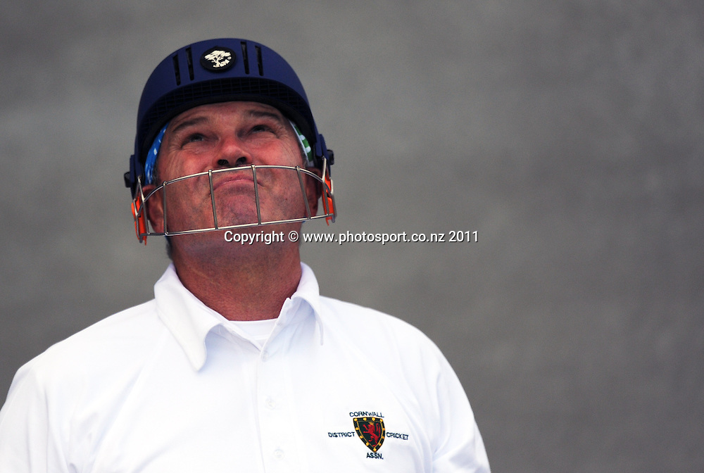 Former New Zealand captain Martin Crowe during his comeback game from retirement Auckland Club Cricket, Papatoetoe v Cornwall Reserves, Papatoetoe Recreation Centre, Auckland. Saturday 5 November 2011. Photo: Andrew Cornaga/ Photosport.co.nz
