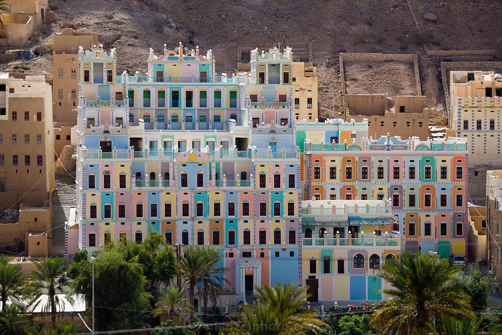 The Khailah Palace Hotel in Wadi Do'an, Hadhramawt, Yemen.