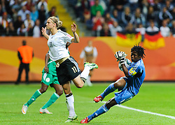30.06.2011, Commerzbank-Arena, Frankfurt, GER, FIFA Women Worldcup 2011, GRUPPE A, Deutschland (GER) vs. Nigeria (NGR) , im Bild Alexnadra Popp (Deutschland #11, Duisburg) und Precious DEDE (NGA #1,Rivers Angels)  // during the FIFA Women Worldcup 2011, Pool A, Germany vs. Nigeria on 2011/06/30, Commerzbank-Arena, Frankfurt, Germany. EXPA Pictures © 2011, PhotoCredit: EXPA/ nph/  Roth       ****** out of GER / CRO  / BEL ******