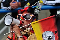 29.07.2010, , Bochum, GER, FIFA U-20 Frauen Worldcup Halbfinale, Deutschland vs Korea, im Bild ein deutscher Fan, EXPA Pictures © 2010, PhotoCredit: EXPA/ nph/  Roth+++++ ATTENTION - OUT OF GER +++++ / SPORTIDA PHOTO AGENCY