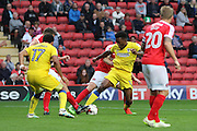 AFC Wimbledon striker Dominic Poleon (10) during the EFL Sky Bet League 1 match between Charlton Athletic and AFC Wimbledon at The Valley, London, England on 17 September 2016. Photo by Stuart Butcher.