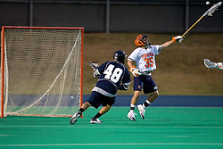 Virginia Cavaliers G Adam Ghitelman (35)..The Virginia Cavaliers men's lacrosse team faced the Georgetown Hoyas in a Fall Ball Scrimmage held at the University Hall Turf Field in Charlottesville, VA on October 12, 2007.
