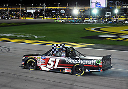 March 1, 2019 - Las Vegas, NV, U.S. - LAS VEGAS, NV - MARCH 01:  during the NASCAR Gander Outdoors Truck Series Strat 200 on March 01, 2019, at Las Vegas Motor Speedway in Las Vegas, NV. (Photo by Chris Williams/Icon Sportswire) (Credit Image: © Chris Williams/Icon SMI via ZUMA Press)