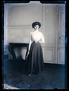 portrait of a standing adult woman France ca 1920s