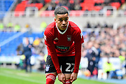 Tristan Nydam (22) of Ipswich Town during the EFL Sky Bet Championship match between Reading and Ipswich Town at the Madejski Stadium, Reading, England on 28 April 2018. Picture by Graham Hunt.
