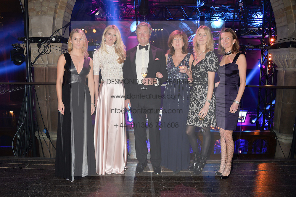 Left to right, LADY KINVARA BALFOUR, LADY JUBIE WIGAN, the 5th EARL & COUNTESS OF BALFOUR, LADY CANDIDA BALFOUR and LADY WILLA FRANKS at the Sugarplum Dinner - The event was for the launch of Sugarplum Children, a new website and fundraising initiative for children who live with type 1 diabetes, and to raise money for JDRF (Juvenile Diabetes Research Foundation) held at One Mayfair, 13A North Audley Street, London on 20th November 2013.