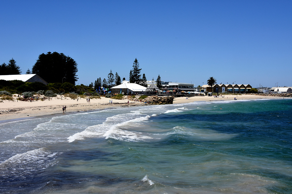 Freemantle Beach with water and sand