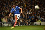 Gareth Evans during the Capital One Cup match between Portsmouth and Derby County at Fratton Park, Portsmouth, England on 12 August 2015. Photo by Adam Rivers.
