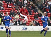 Photo: Mark Stephenson.<br />Walsall v Accrington Stanley. Coca Cola League 2. 31/03/2007. Walsall's Anthony Gerrard (C) on the ball