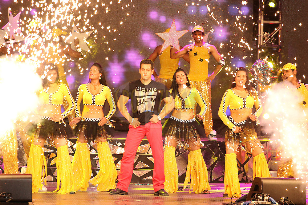 Salman Khan performs during the Indian Premier League ( IPL) 2012 opening night function and concert held at the YMCA College of Physical Education Grounds, Nandanam, Chennai on the 3rd April 2012..Photo by Ron Gaunt/IPL/SPORTZPICS