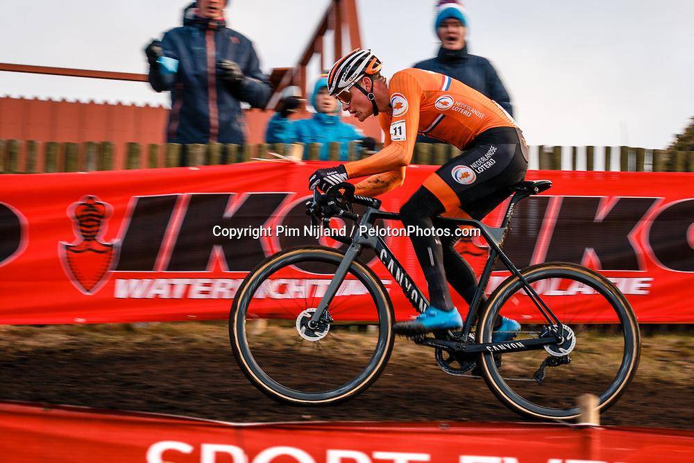 Mathieu van der Poel, 2019 Men Elite UCI Cyclo-cross World Championships at Bogense, Denmark, 3 Februari 2019. Photo by Pim Nijland / PelotonPhotos.com   All photos usage must carry mandatory copyright credit (Peloton Photos   Pim Nijland)