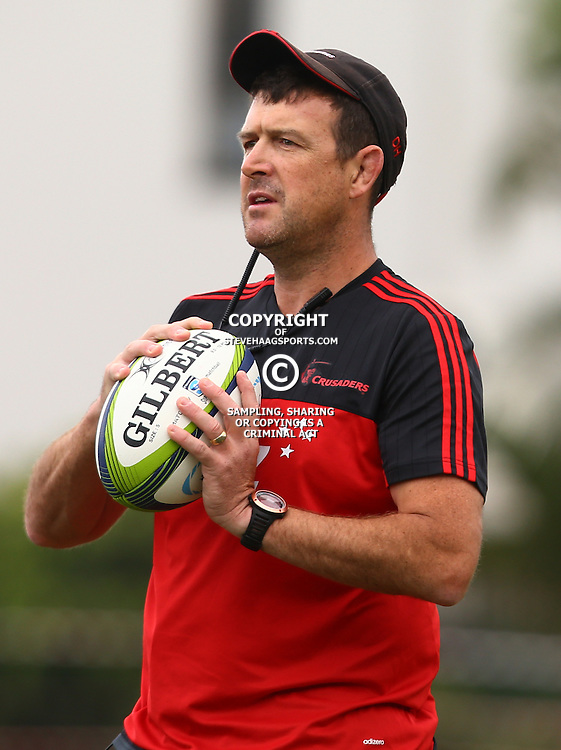 DURBAN, SOUTH AFRICA, 24,MARCH, 2016 -  Dave Hewett (Assistant Forwards Coach) of the BNZ Crusaders during The Crusaders training session  at Northwood School Durban North in Durban and the Crusaders Media conference, South Africa. (Photo by Steve Haag)<br /> <br /> images for social media must have consent from Steve Haag