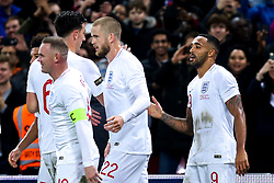 Callum Wilson of England celebrates with teammates after scoring a goal to make it 3-0 - Mandatory by-line: Robbie Stephenson/JMP - 15/11/2018 - FOOTBALL - Wembley Stadium - London, England - England v United States of America - International Friendly