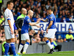 Everton's Steven Naismith replaces the injured Muhamed Besic - Mandatory byline: Matt McNulty/JMP - 07966386802 - 12/09/2015 - FOOTBALL - Goodison Park -Everton,England - Everton v Chelsea - Barclays Premier League
