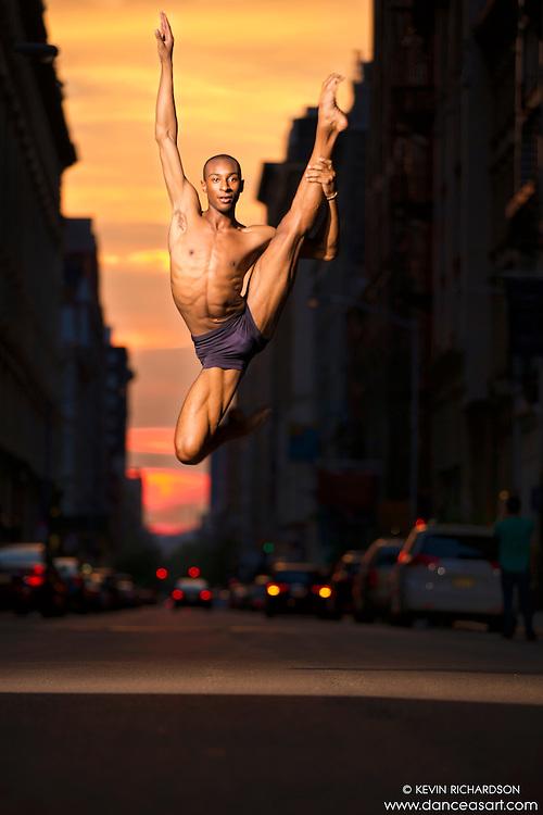 Manhattanhenge New York City- Dance As Art Photography Project featuring dancer, Daniel White