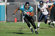 JACKSONVILLE, FL - DECEMBER 12:  Running back Fred Taylor #28 of the Jacksonville Jaguars carried the ball 21 times for 79 yards rushing and caught 4 passes for 23 yards against the Chicago Bears on December 12, 2004 at Alltel Stadium in Jacksonville, Florida. The Jags defeated the Bears 22-3. ©Paul Anthony Spinelli *** Local Caption *** Fred Taylor
