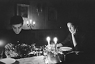 An intimate dinner for the two lovers<br />