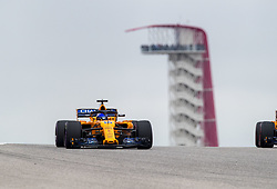 October 20, 2018 - Austin, United States - Motorsports: FIA Formula One World Championship; 2018; Grand Prix; United States, FORMULA 1 PIRELLI 2018 UNITED S GRAND PRIX , Circuit of The Americas#14 Fernando Alonso (ESP, McLaren-Renault) (Credit Image: © Hoch Zwei via ZUMA Wire)