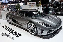 Koenigsegg Agera super car at the Geneva Motor Show 2011 Switzerland