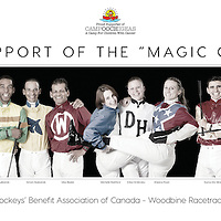 "Jockeys in support of ""CAMP OOCH"""